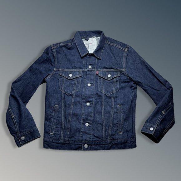 LEVI's Wellthread Collection Trucker Jacket Cottonized Hemp Blue Men's M NWT